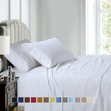 600 Thread Count Stripe Sheet Set Combed  Cotton Bed Sheet set-Deep Pocket