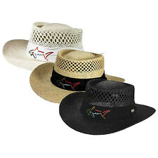 NEW Greg Norman Men's Branded Straw Vented Hat One Size Fits Most - Choose Color