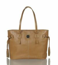 New Dooney & Bourke Davis Tassel Shopper Saddle Tan  Leather Handbag