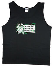 Men's tank top funny weed pot head 420 stoner black t-shirt sleeveless tee