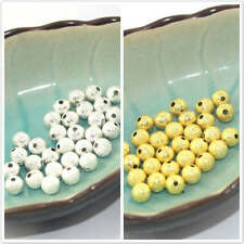 50 Pcs Gold Silver Plated Round Brass Stardust Spacer Beads 4mm 6mm 8mm Pick