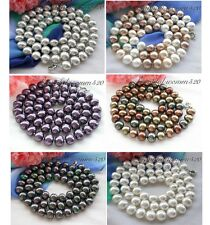 "X0204 34"" 15MM  EGG SOUTH SEA SHELL PEARL NECKLACE"