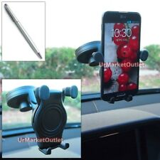 Car Windshield Rotate Cradle Mount Holder+Stylus Touch Pen for HTC/Huawei Phone