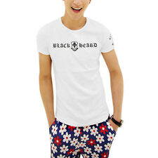 Men Short Sleeve Round Neck Stretchy Slim Fit Casual T-Shirts
