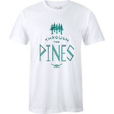 The Level Collective Through Pines Mens T-shirt - White All Sizes