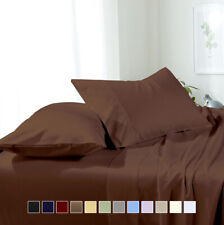 Luxury Bed Sheet Set- Solid Brushed Microfiber Wrinkle-Free sheet sets