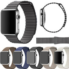 Luxury Genuine Leather Loop Type Watch Band Strap For iWatch Apple Watch 38/42mm