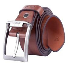 Fashion Durable Mens Casual Waistband Luxury Genuine Leather Waist Strap Belt