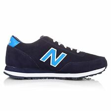 New Balance 501 Suede Classics Traditionnels Navy Blue Mens Trainers
