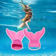 Girls Swimmable Toy Mermaid Swimming Flipper Kids Swim Tails Fin Monofin E1X9
