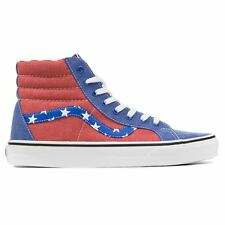 Vans Classic Sk-8 Hi Reissue Red Blue Womens Trainers