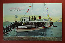 "Van Ornum Colorprint early 1900's postcard ""Empress"" Glass Bottom Power Boat"