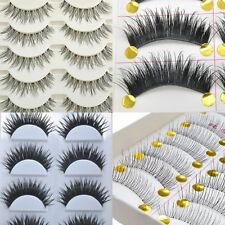 4 Style Natural Makeup Individual Cross Thick Eyelash Extension False Eyelashes