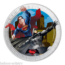 8 DC Comics BATMAN V SUPERMAN Movie Children's Party Small 20cm Paper Plates