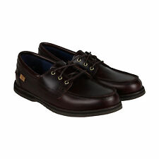 Timberland Alton Bay 3 Eye Mens Brown Leather Casual Dress Boat Shoes Shoes