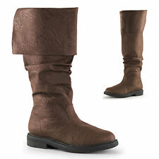 Robin Hood Knee High Boots With Cuffs Renaissance Boots Pirate Boots Rob-100