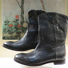 NWB WOMENS AUTHENTIC PAUL SMITH LEATHER BOGART BOOTS BLACK OR GREY SIZE 40 41