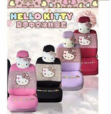 LEW LISTING - Genuine Hello Kitty Car Seat Covers Cushion Accessories Set
