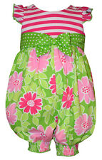 Bonnie Jean Baby Girls Spring Summer Flower Coverall Dress 2T 3T 4T New