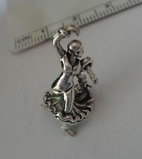 Sterling Silver 3D 22x14mm Spanish Spain Flamenco Dancer Charm