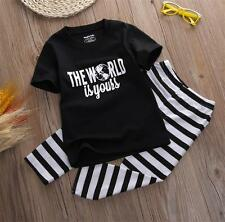 Toddler Kids Baby Boy Casual T-shirt Tops+Long Pants Trousers Outfit Clothes Set