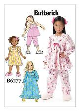 Butterick Easy SEWING PATTERN B6277 Childrens/Girls Top,Dress,Gown,Pants