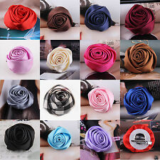Beautiful Rose Flower Wedding Bridal Hair Clip headpiece Brooch Pin For Women