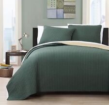 3-piece Embroidered Reversible Quilt Set Beautiful Rich Colors-Project Runway