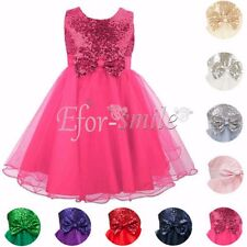 Flower Girl Dress Baby Princess Kids Pageant Party Wedding Braidsmaid Long Gown