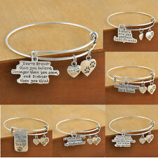 Retro Family Daughter Sister Friends Fashion Gifts Women Bangle Bracelet Jewelry