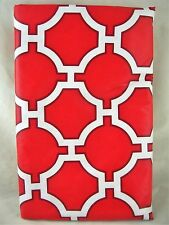 Assorted Sizes Red Lattice Umbrella Hole Zippered Vinyl Tablecloth FREE SHIPPING