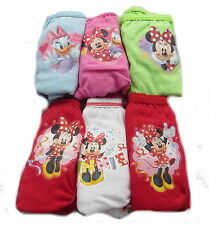 Disney Minnie Mouse 6 Pack Girls Knickers Ages 18 Months - 4 Years Available