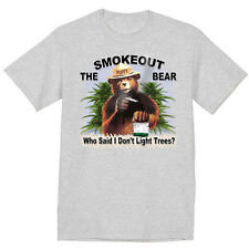 funny weed pot cannabis smokey the bear pot head stoner tee shirt 420