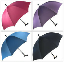 Hot Men women skidproof Crutch umbrella Hiking walking stick Rain Parasol 5Color