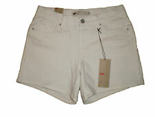 Levis White Stretch Denim Classic Jean Shorts Womens Size 6 | 16 NEW $44