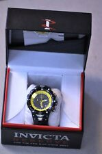 Invicta Venom Reserve Chronograph Model 11711 Yellow Stainless Rubber Watch WOW!