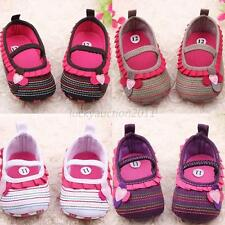 Newborn Girls Flower Soft Sole Crib Shoes Infant Toddler Baby Prewalkers Shoes