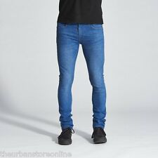 Wrangler Men's Strangler Stretch Skinny Denim Jeans Delta Blue 40% Off
