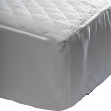 Waterproof Quilted Mattress Protector Microfibre Cover 30cm Elastic Skirt White