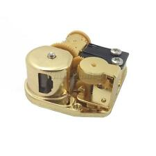 Musical DIY Accessories Wind Up Music Box Movement 12 Melodies Pick Gold Plated