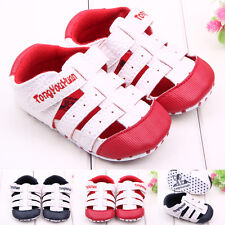 Newborn Baby Girls Boys Toddler Faux Leather Sandals First Walking Shoes 0-12M