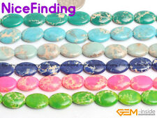 """Oval Dyed Mutil-Color Sea Sediment Jasper Jewelry Making Loose Beads15""""Size Pick"""