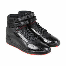 Puma Sky Ii Hi Carbon Mens Black Leather High Top Lace Up Sneakers Shoes