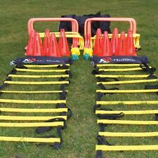 """Pack of 6 Hurdles Agility Speed Training 4"""" 6"""" 9"""" 12"""" Football Rugby Passing Arc"""