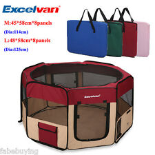 Fabric Pet Playpen Puppy Dog Cat Play Pen Soft Crate Cage Enclosure Travel Tent