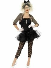 Ladies 1980 80s Wild Child Pop Star Madonna Festival Fancy Dress Costume 3 Sizes