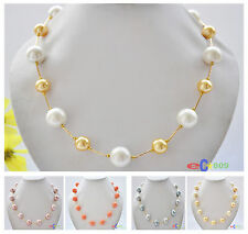 X0048 16mm round south sea shell pearl necklace 20inch