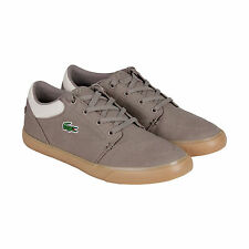 Lacoste Bayliss Mens Brown Canvas Lace Up Sneakers Shoes
