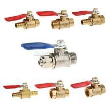 Various Connector Ball Valve Threaded Stainless Brass Valve 1/4'' 3/8'' 1/2''