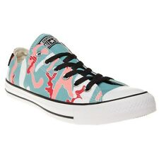 New Mens Converse Blue Multi Warhol All Star Ox Canvas Trainers Lace Up